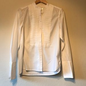 MADEWELL PLEATED BUTTON DOWN